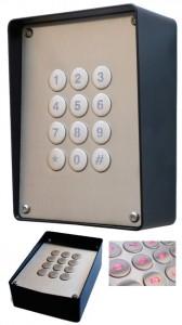 W-LOCK - Zugangskontrolle durch Pin Code. Einstellbar via SMS